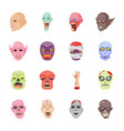 halloween characters flat icons vector image vector image