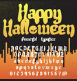 happy halloween new powerfull gothic typeface vector image vector image