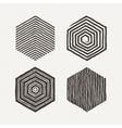 Hexagons set Pattern vector image vector image