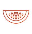 juicy watermelon fruit tropical nature food vector image vector image