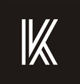 k letter simple logo vector image vector image