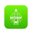ketchup icon green vector image vector image