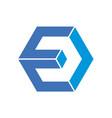 letter e polygon concept logo icon vector image vector image