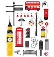 London city street icon set vector image vector image
