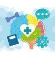mental health day human brain activities vector image vector image
