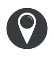 Monochrome round map marker icon vector image vector image