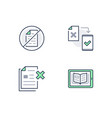 paperless line icons included vector image vector image