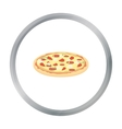 Pizza icon in cartoon style for web vector image vector image