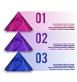 Polygonal info graphic vector image vector image