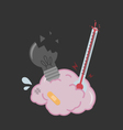 poor brain injured and get sick no idea vector image vector image
