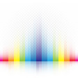 rainbow striped colors background vector image