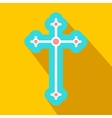 Religious symbol of crucifix flat icon vector image vector image