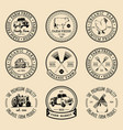 retro set of farm fresh logotypes vintage vector image