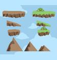 rock block platform vector image