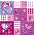 Romantic seamless patterns in patchwork style vector image vector image