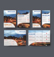 set brochute and flyer with blurred photo vector image vector image