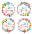Set isolated spring floral frames