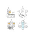set of original emblems for cocktail bar or vector image vector image
