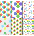 Six rainbow pattern vector image vector image