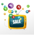 Tv and sale labels vector image vector image