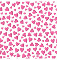 valentines day background hand drawn hearts vector image vector image