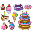 various cakes collection 1 vector image