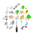 verge icons set isometric style vector image vector image