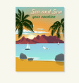 vintage summer vacation poster blank for vector image