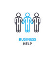 business help concept outline icon linear sign vector image