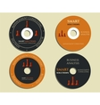Business CD DVD templates sign icon Compact vector image