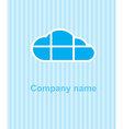 cloud on a blue striped background the cloud is vector image