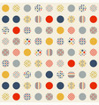 abstract seamless pattern circles vector image vector image