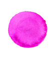 abstract watercolor pink round background vector image