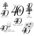 anniversary 40th signs collection