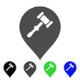 auction hammer marker flat icon vector image