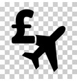 aviation pound business icon vector image