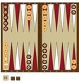 Backgammon game vector image vector image