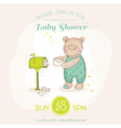 bashower or arrival card - with babunny vector image vector image