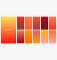 bright orange autumn color gradients set vector image