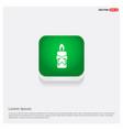 candle icon green web button vector image
