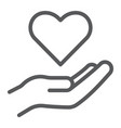 care line icon family and love hand holding vector image vector image
