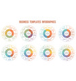 circle arrows infographics templates for 3 4 5 6 vector image