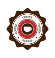 coffee emblem and logo vector image