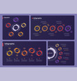 collection various infographic templates vector image