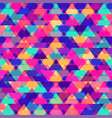 colored triangle pattern vector image vector image