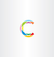 colorful logo letter c logotype c sign icon vector image vector image