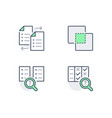 comparison line icons vector image vector image