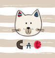 cute with funny cat for kids design vector image
