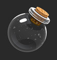 empty bottle game icon of magic elixir interface vector image vector image