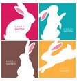 four creative design concepts with easter bunnies vector image vector image